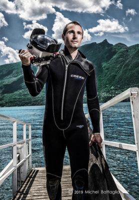 Rémi Masson Cressi lac du Bourget plongeur photographe