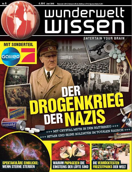 """""""Wunderwelt Wissen magazine"""" (Allemagne): Publication d'une photo en double-page, Juin 2016."""
